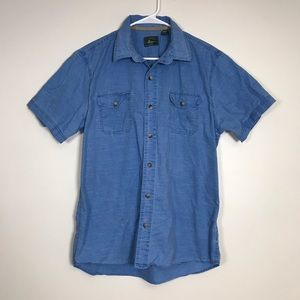 G.H Bass Jean Button Up Short Sleeved Shirt